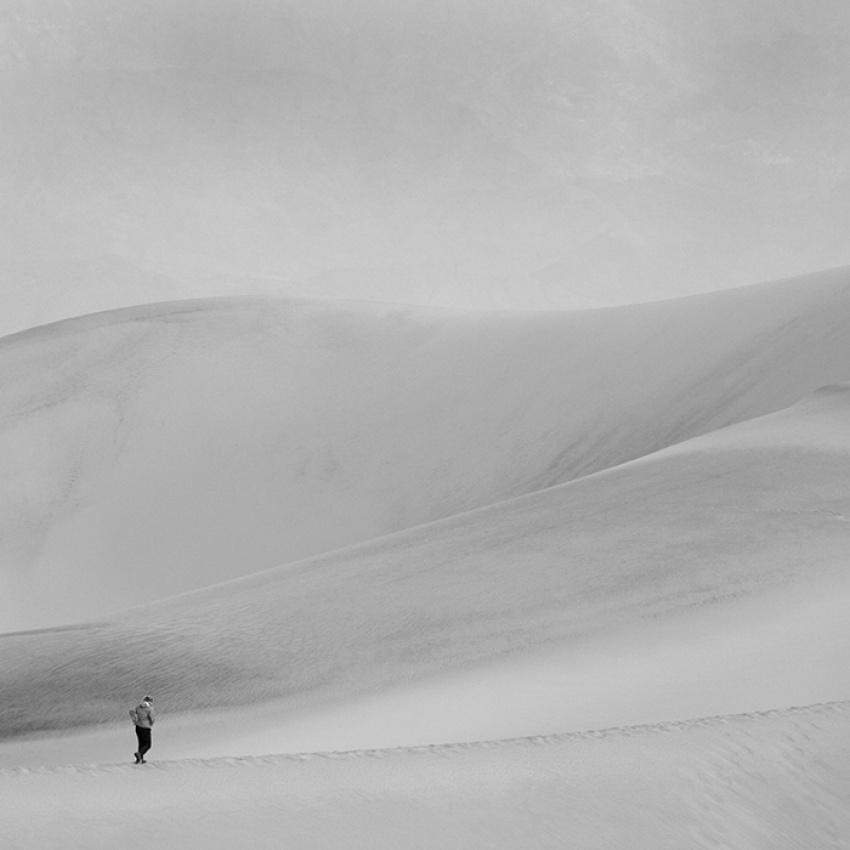 A piece of fine art art photography titled Lone Hiker by Brad Kim