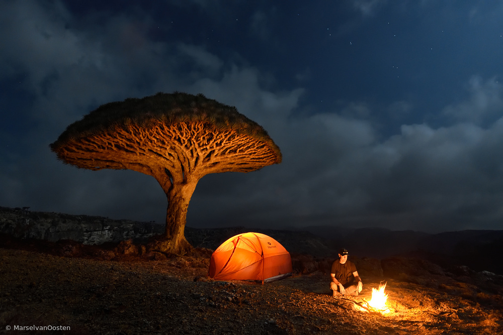 View this piece of fine art photography titled Camp Socotra by Mats Reslow