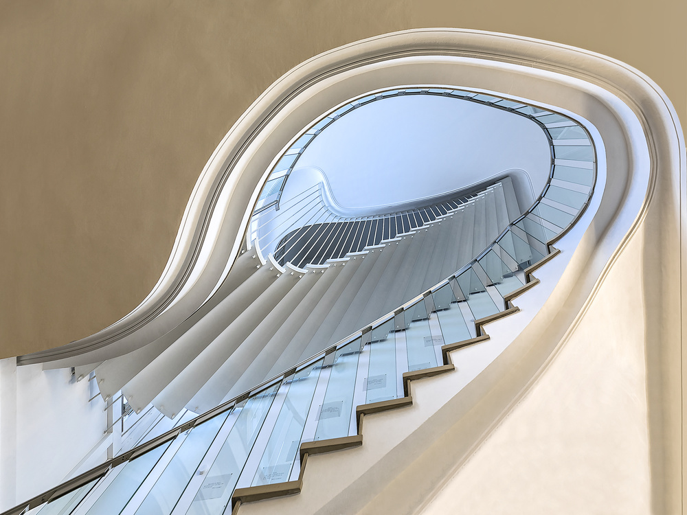 A piece of fine art art photography titled Staircase / Documenta 14 by Herbert A. Franke