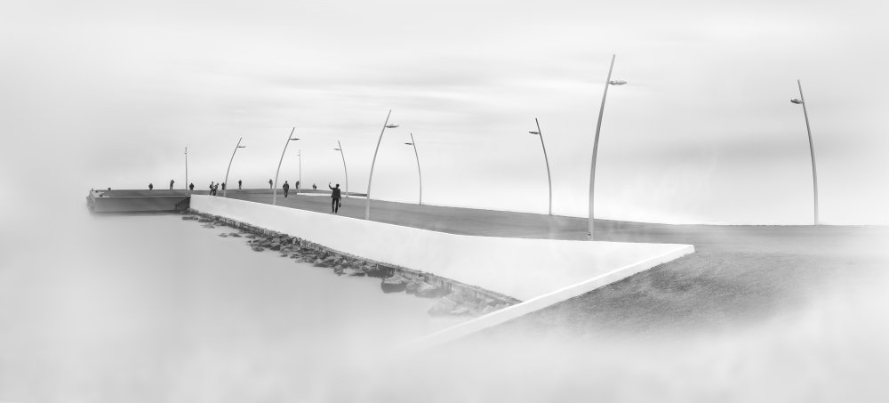 A piece of fine art art photography titled Pier by Aleksei Nikolaev