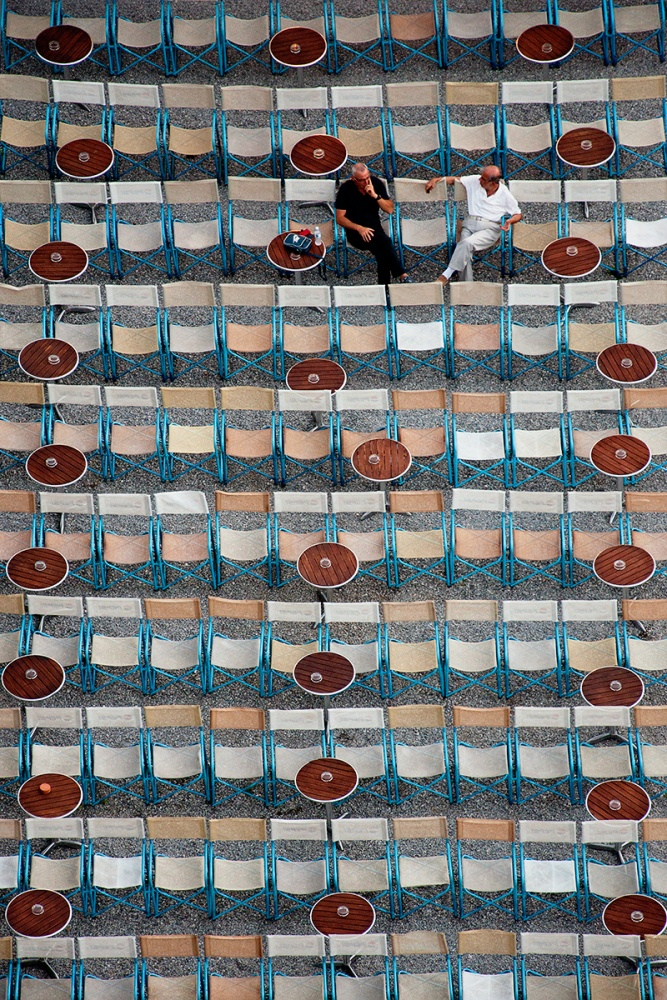 A piece of fine art art photography titled The Conversation by Fadi Tarawneh