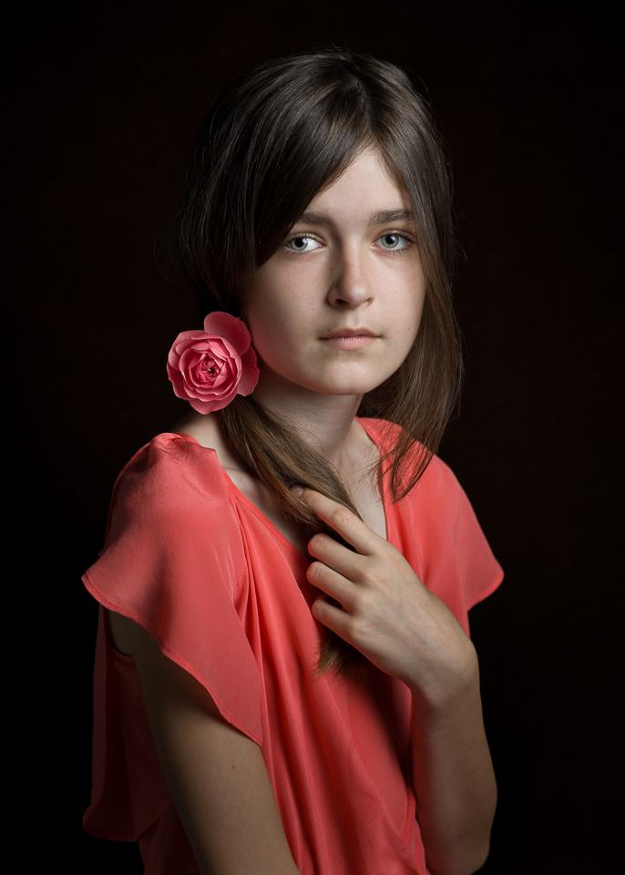 A piece of fine art art photography titled Rose by Aneta Mrożek