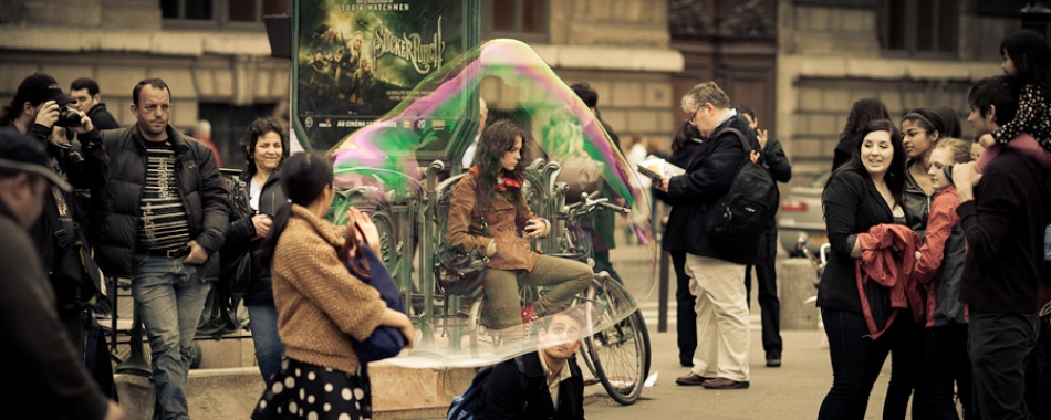 A piece of fine art art photography titled Bubble Girl by Guillaume Vigoureux