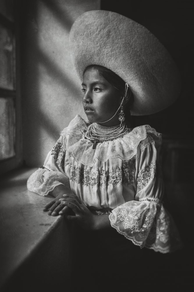 A piece of fine art art photography titled Natabuela Girl by John Quintero
