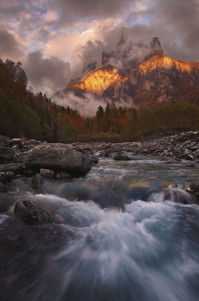 A piece of fine art art photography titled French Alps by Alex Yurko