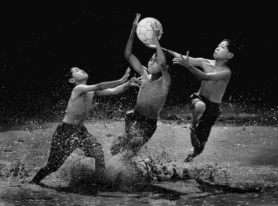 A piece of fine art art photography titled Our Future Goal Keeper by Rizal Adi Dharma