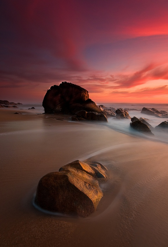 A piece of fine art art photography titled The Rock by Raul Nunes