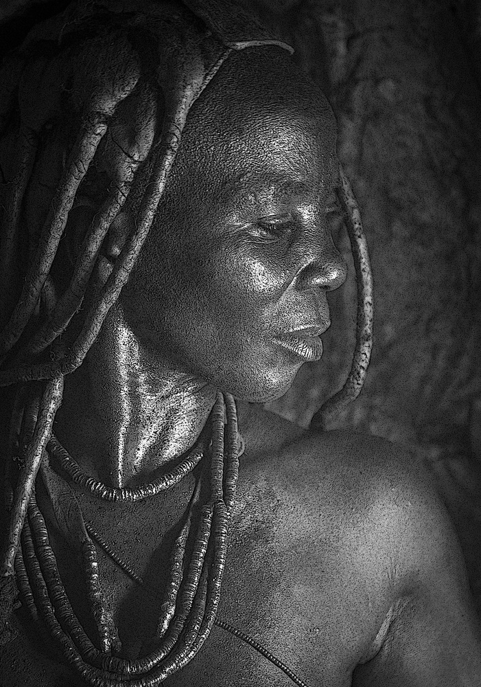 A piece of fine art art photography titled Himba Woman In Profile by John Rickwood