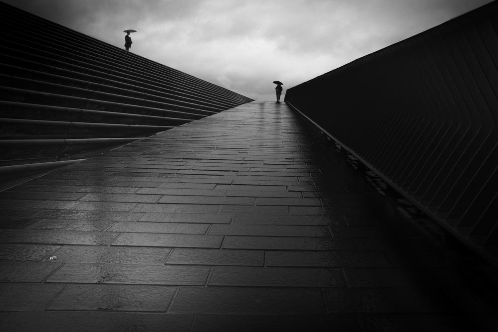 A piece of fine art art photography titled A Rainy Day by Knut Sander