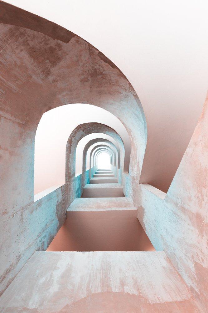 A piece of fine art art photography titled L'escalier by blu julien