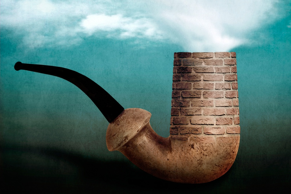 A piece of fine art art photography titled Ceçi N'est Pas Une Pipe! by Ben Goossens
