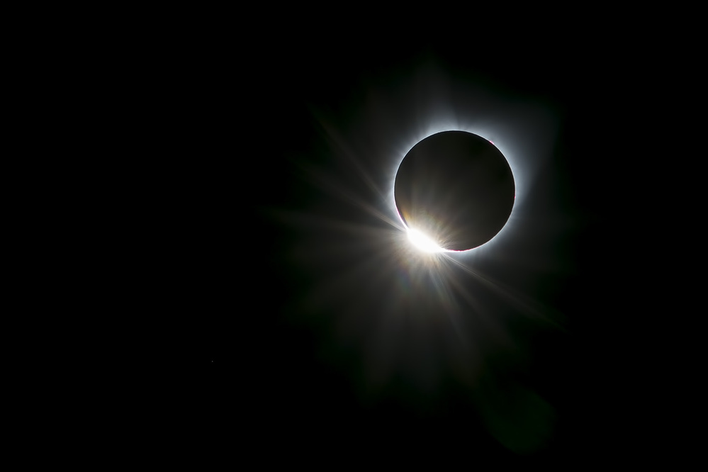 A piece of fine art art photography titled Solar Ring by Hua Zhu