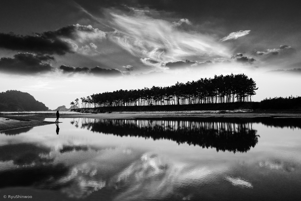 View this piece of fine art photography titled Beach of Pine Grove by Ryu Shin-woo