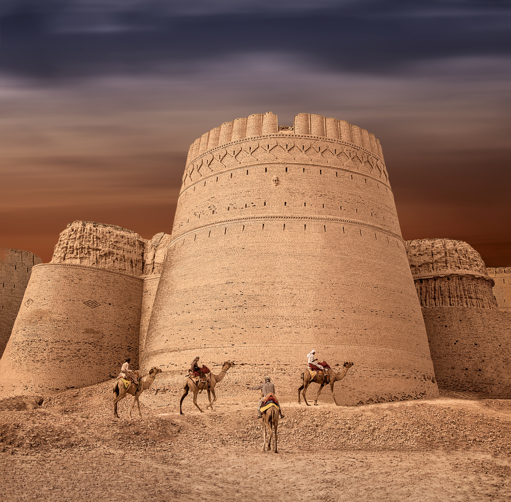 A piece of fine art art photography titled Derawar Fort 3 by Sayyed Nayyer Reza