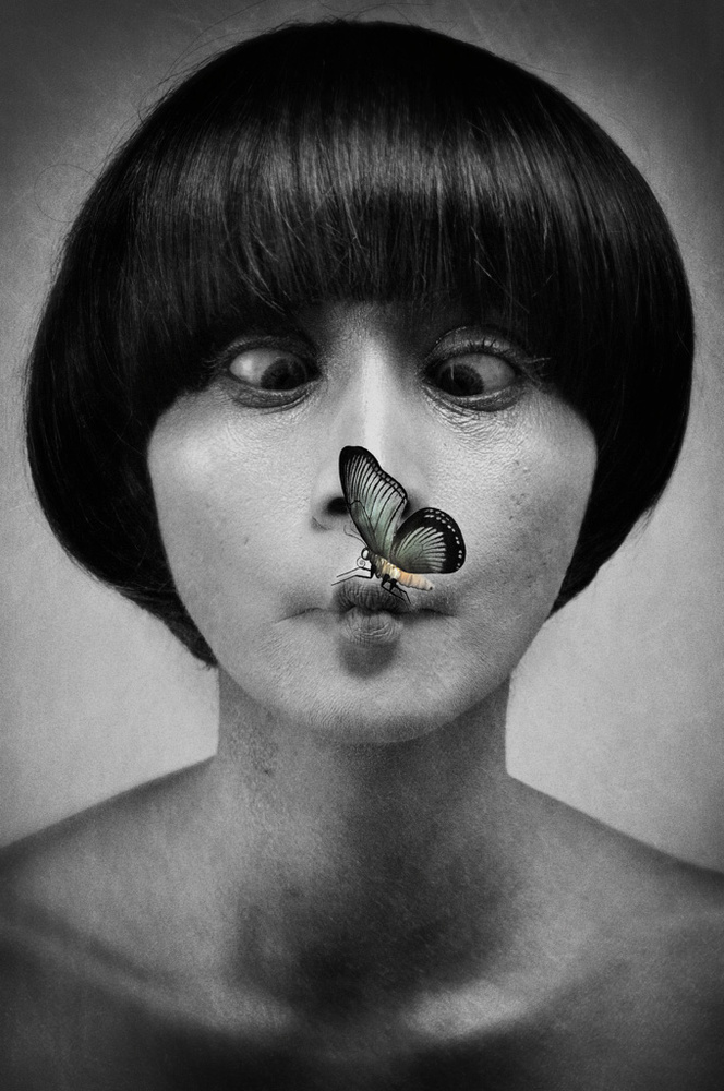 A piece of fine art art photography titled Butterfly by Heriansyah Cibo