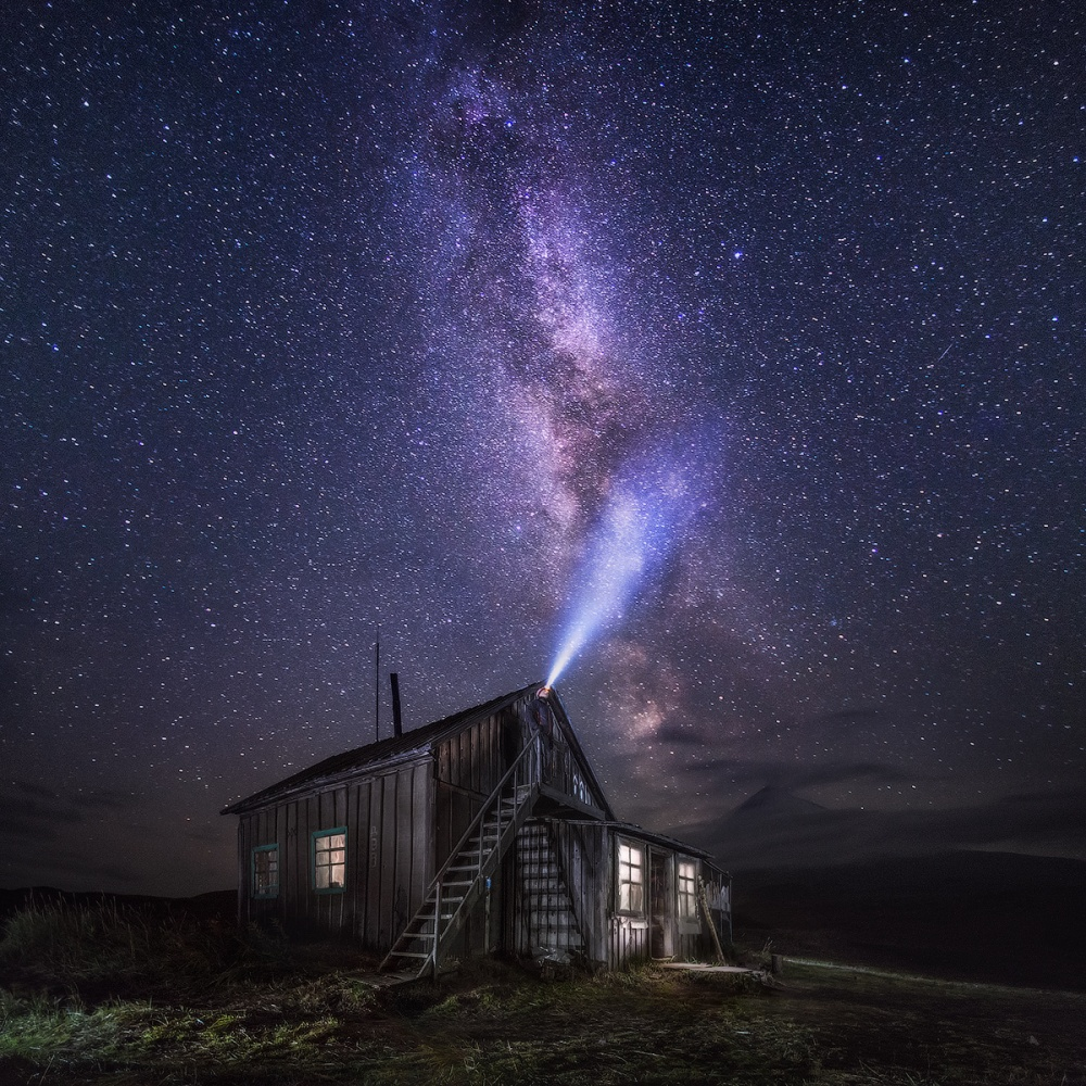 A piece of fine art art photography titled Listening for Stars by Daniel Kordan