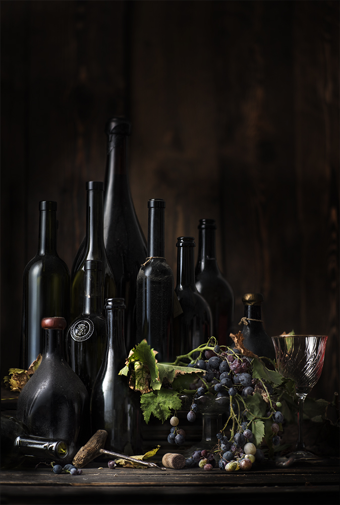 Vanitas. Bottles