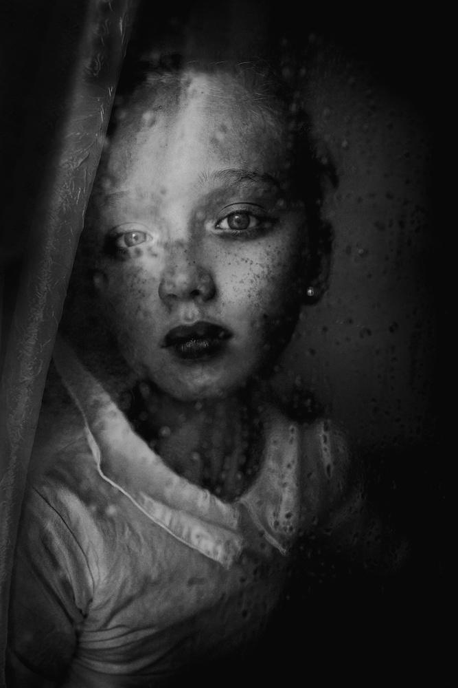 A piece of fine art art photography titled Rainy by Kharinova Uliana