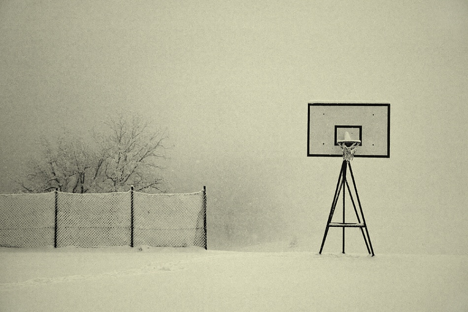 A piece of fine art art photography titled Winter Playground by Jure Kravanja