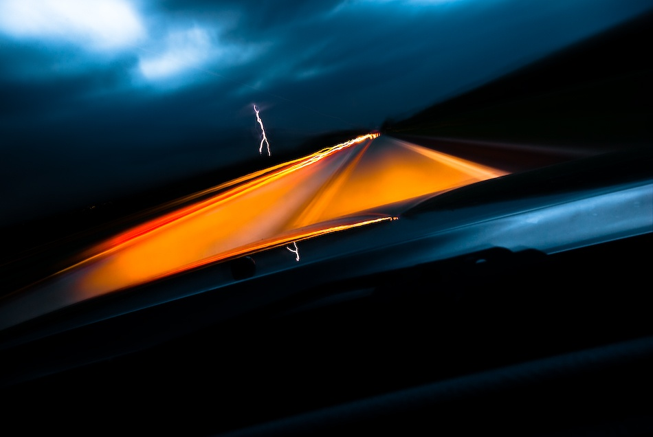 A piece of fine art art photography titled Storm Chaser by Trevor Brown