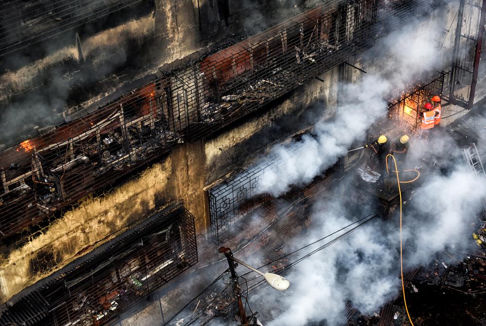 A piece of fine art art photography titled Fire Fighters by Avishek Das