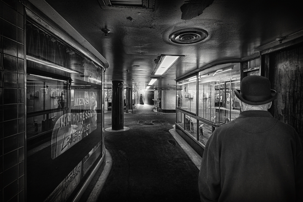 A piece of fine art art photography titled The Exit by Adrian Donoghue