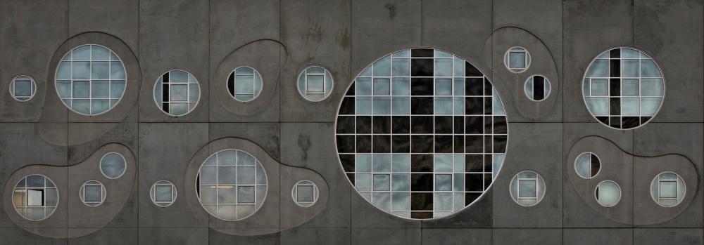 A piece of fine art art photography titled Section of Windows by Lotte Grønkjær