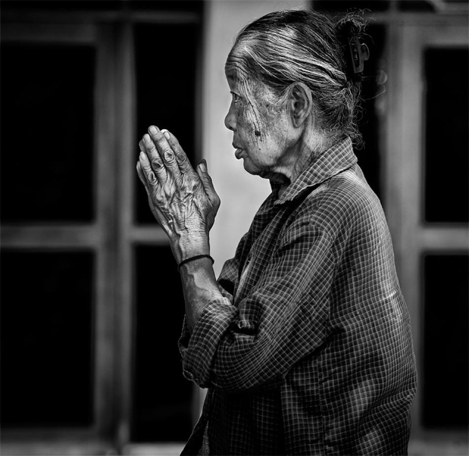 A piece of fine art art photography titled Prayer by lovro