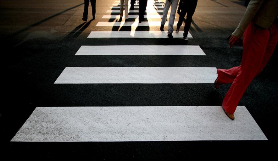 A piece of fine art art photography titled Zebra Crossing by Piero Calzona