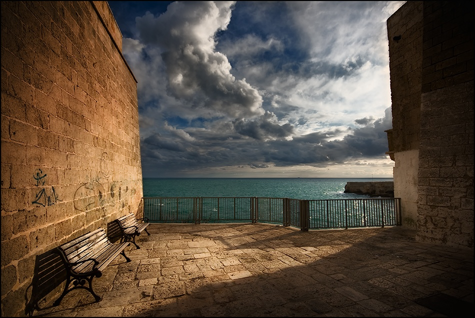 A piece of fine art art photography titled The Sea Between the Walls by Franco Farina