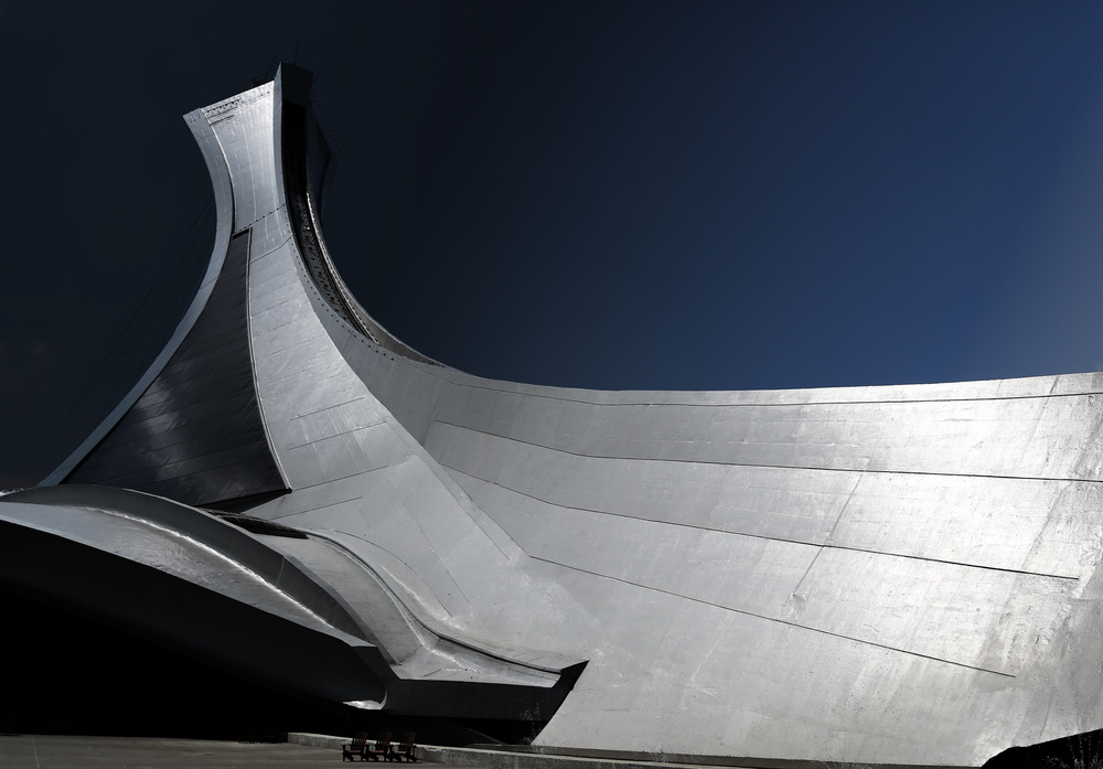 A piece of fine art art photography titled Montreal Olympic Stadium by Ivan Huang