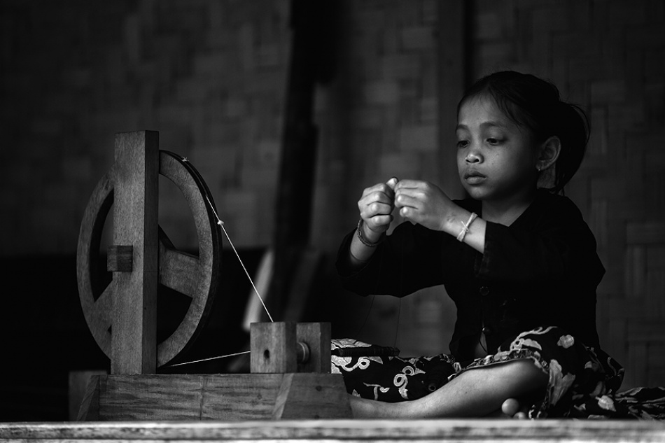 A piece of fine art art photography titled Bobbin Girl by nico fredia