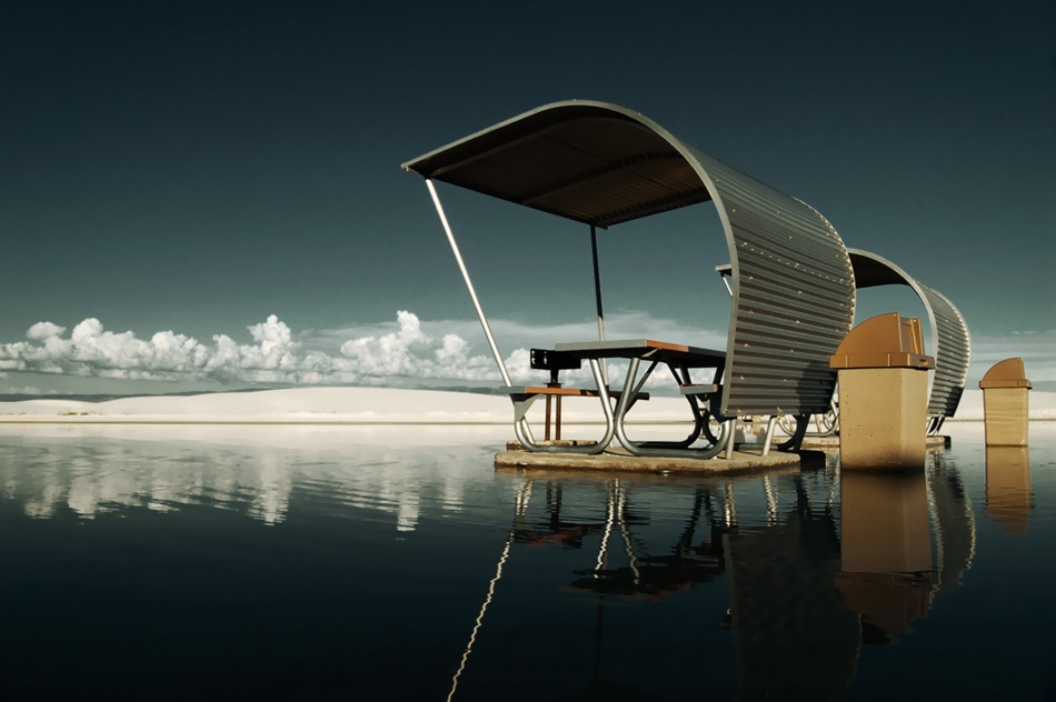 A piece of fine art art photography titled The Picnic Area at the End of the Universe by Eric Hart