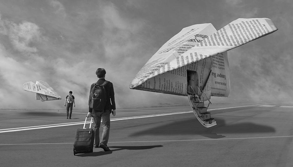 A piece of fine art art photography titled Cheap Flight by Harris Rinaldi