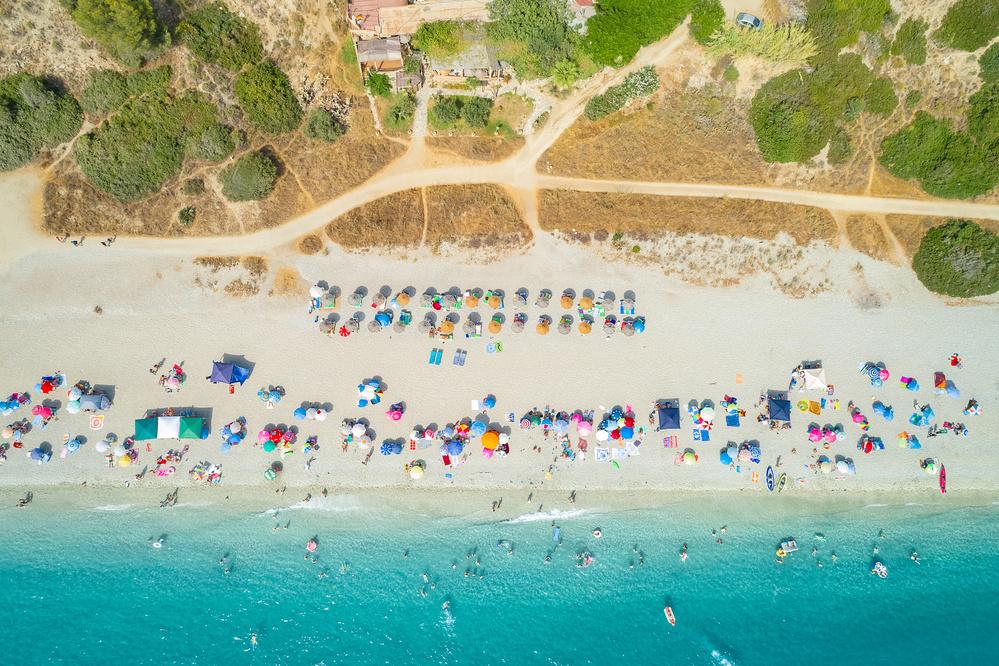 Beachlife seen from the sky