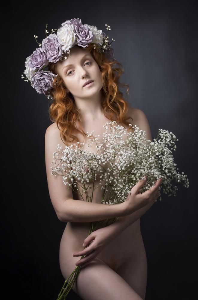 A piece of fine art art photography titled Flower Girl by Ross Oscar