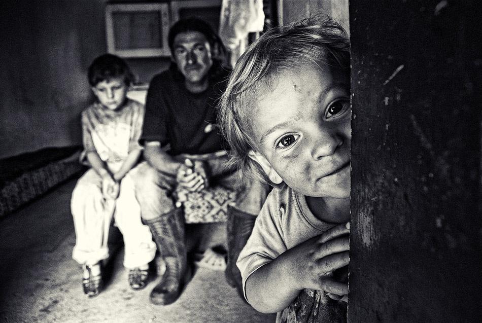 A piece of fine art art photography titled Little Family by István Kerekes