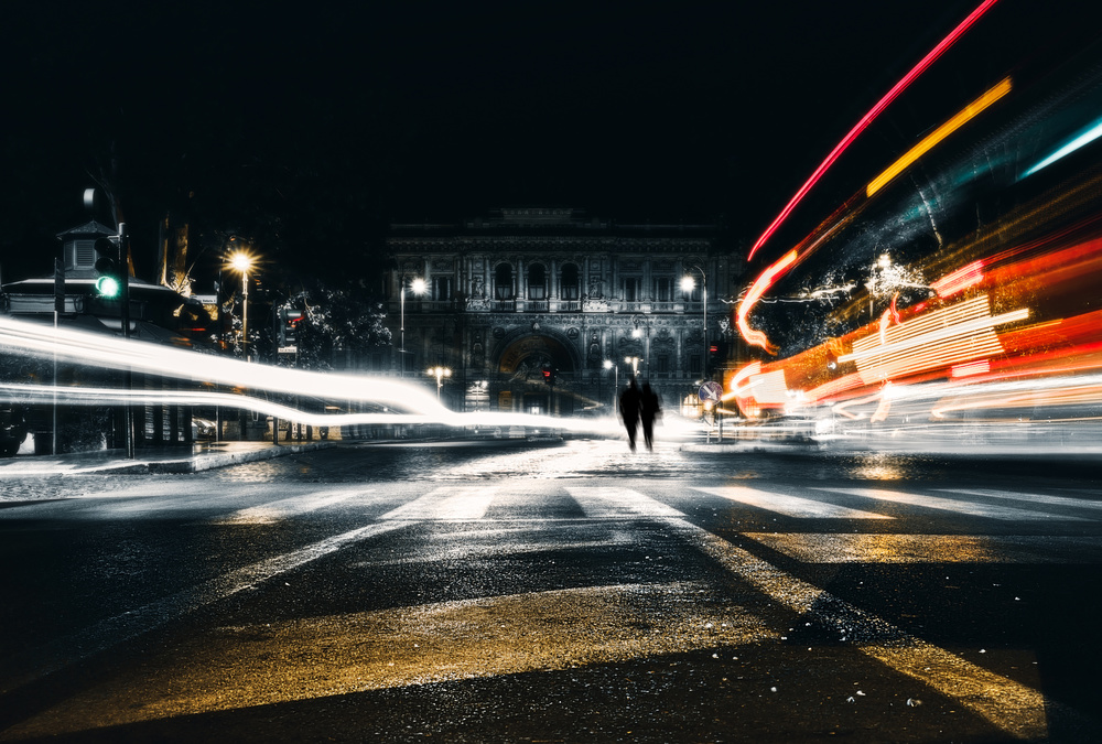 A piece of fine art art photography titled Urban Lights by Massimiliano Mancini