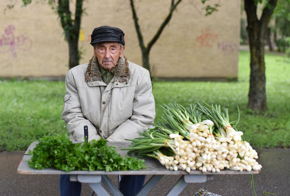 The spring onion vendor