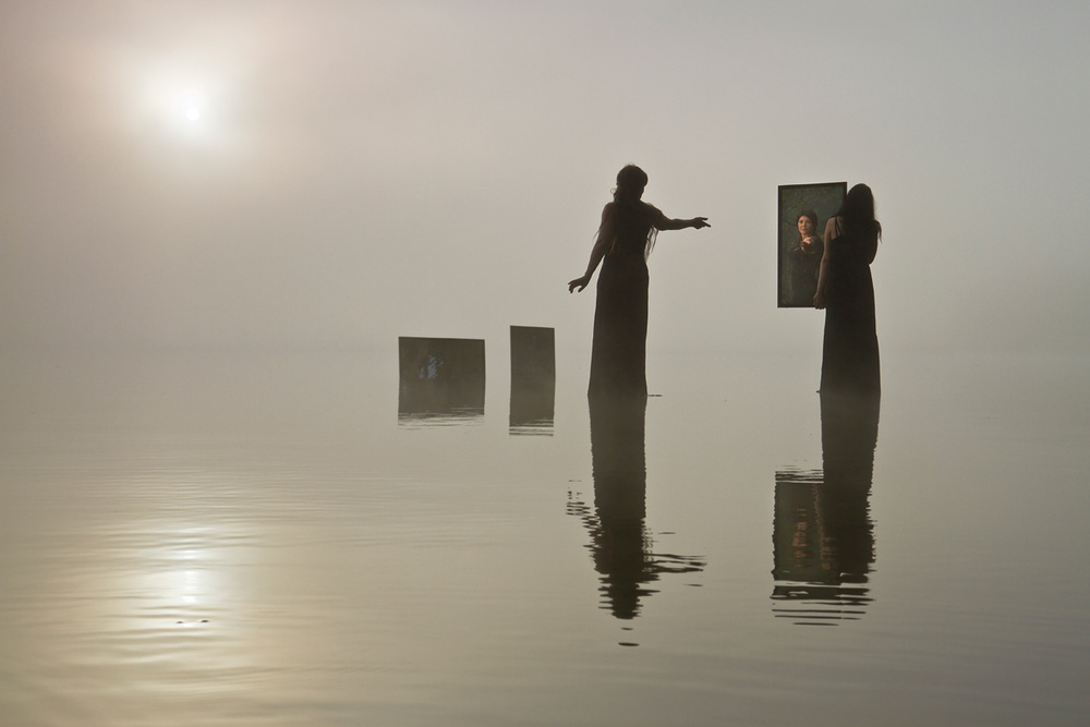 A piece of fine art art photography titled In the Land of Mirrors by Leszek Paradowski