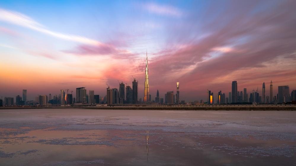 A piece of fine art art photography titled Dubai Skyline by zohaib anjum