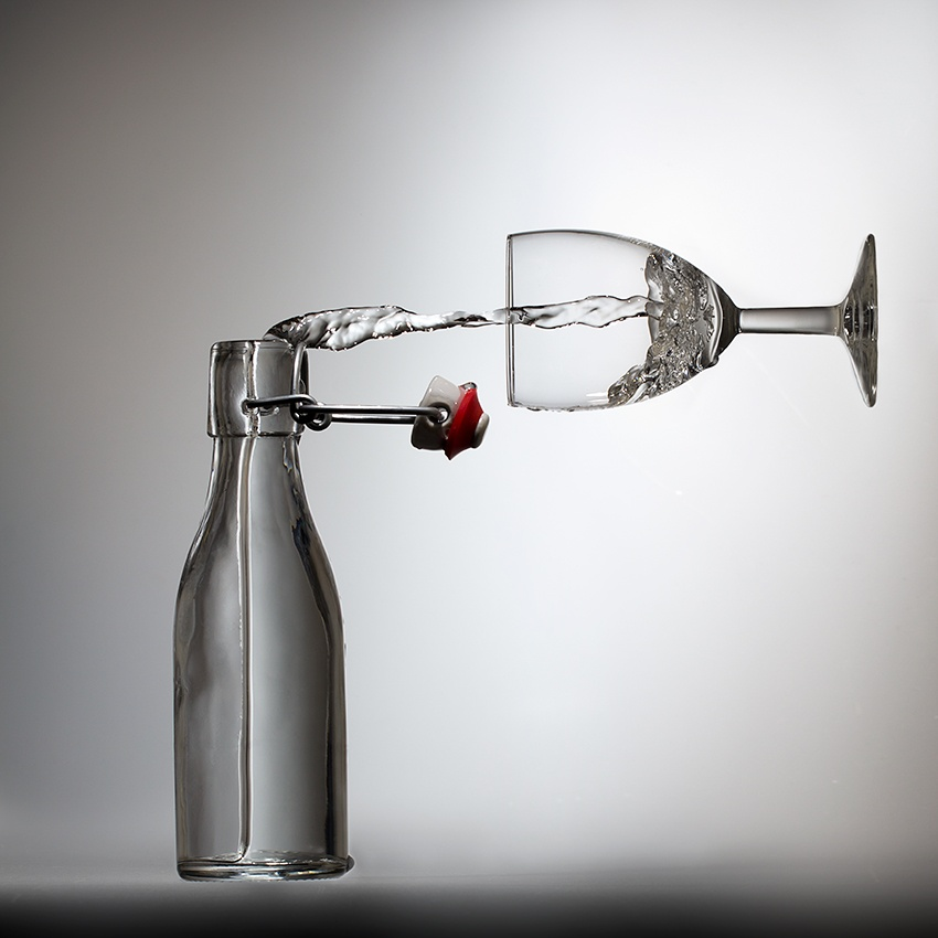 A piece of fine art art photography titled Pouring? by Wieteke de Kogel