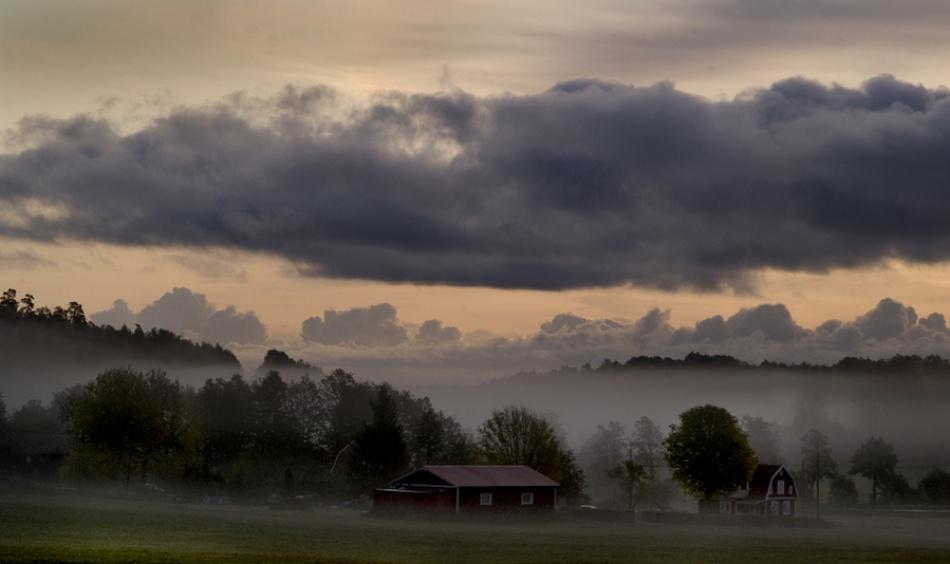 A piece of fine art art photography titled Landscape View from Hölö by Allan Wallberg