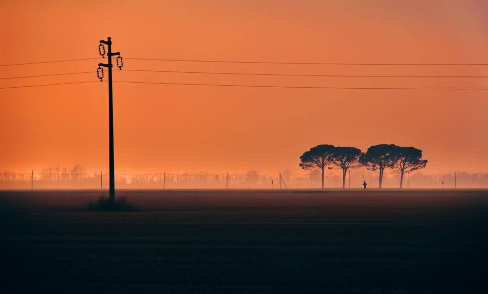 A piece of fine art art photography titled Long Distance Runer by Sandi Gorkic