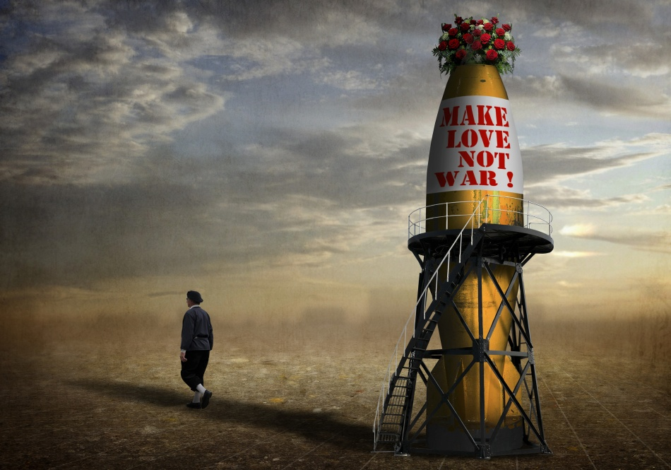 A piece of fine art art photography titled Make Love, Not War ! by Ben Goossens