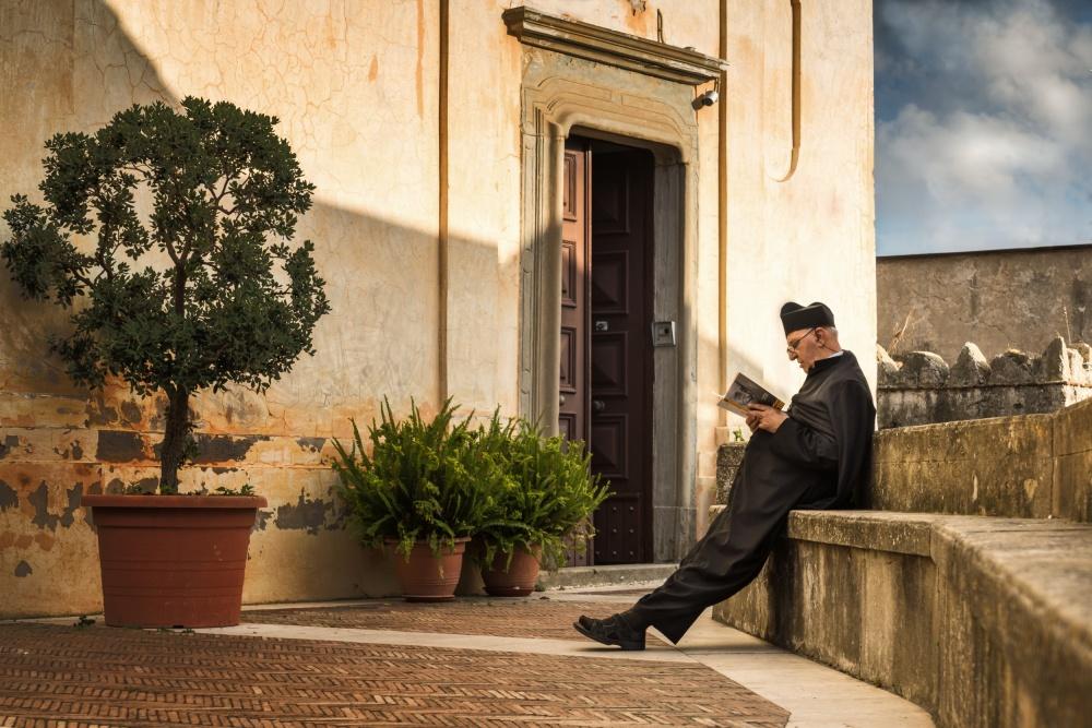 A piece of fine art art photography titled The Pastor by Ute Scherhag