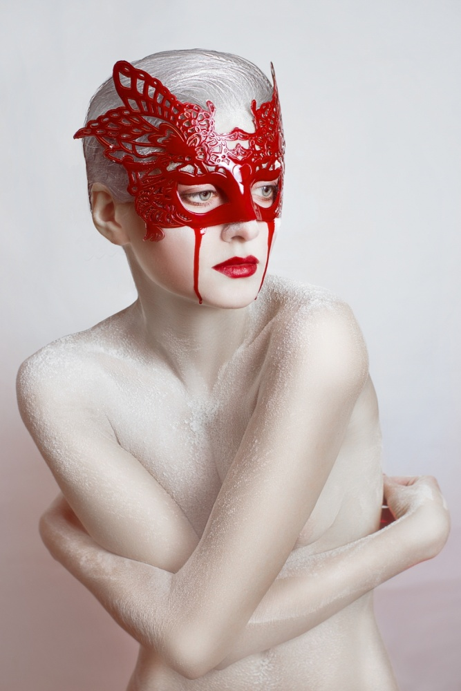 A piece of fine art art photography titled White and Blood by Angelina Goncharova