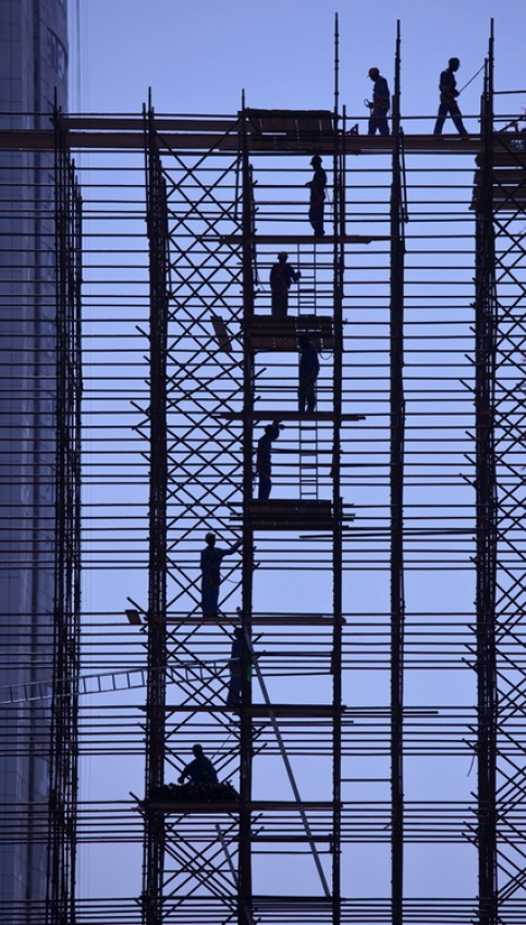 A piece of fine art art photography titled Up the Ladder by Richard Messenger