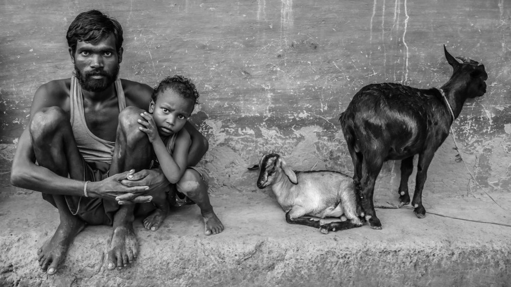 A piece of fine art art photography titled Father's Love by Amit Paul