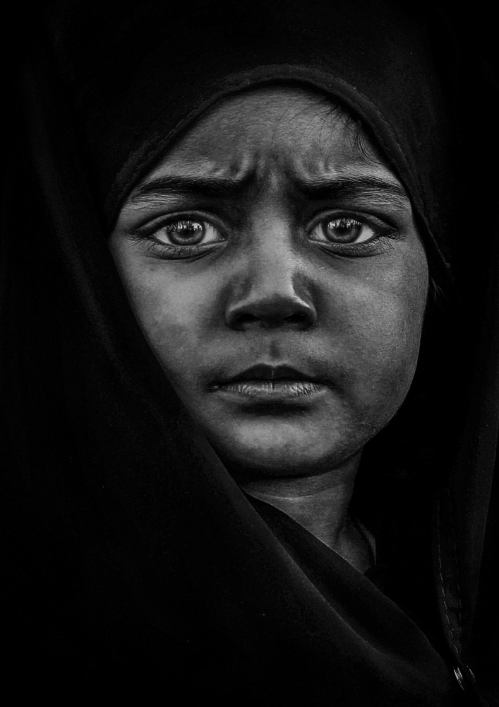 A piece of fine art art photography titled Zainab by Hameed Almakhlooq